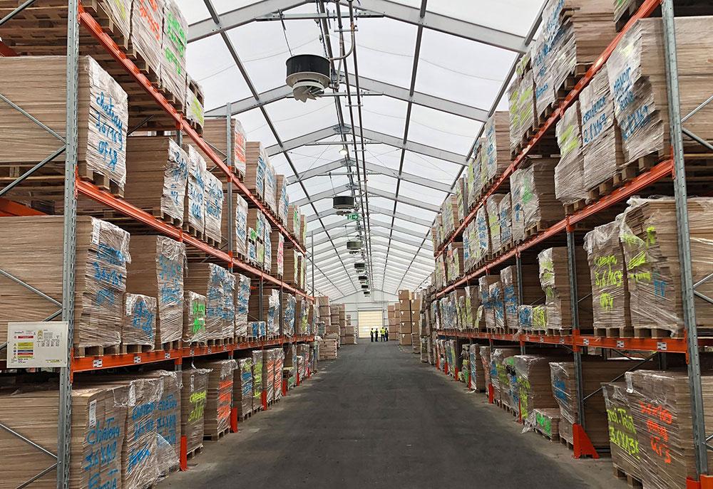 Solution de stockage pour les fabricants de palettes et emballages en bois